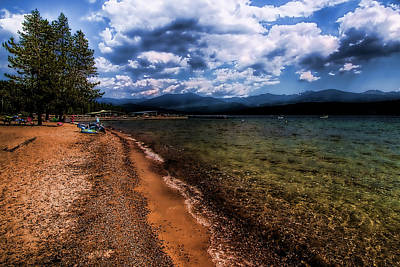 Photograph - South Beach At Priest Lake by David Patterson