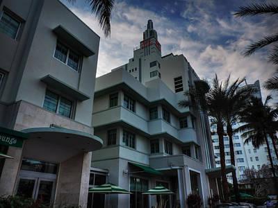 Art Deco Photograph - South Beach - Collins Avenue 004 by Lance Vaughn