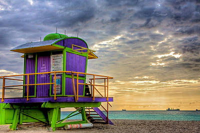 South Beach Dawn Print by William Wetmore