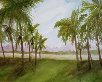 Painting - South Beach Forest by Rosie Brown