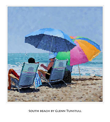 Painting - South Beach Poster by Glenn Tunstull