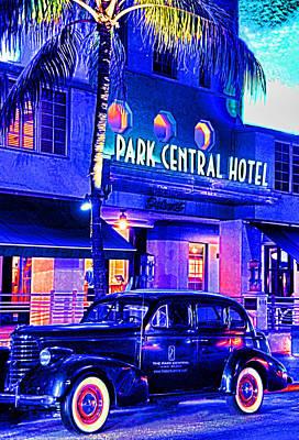 South Beach Hotel Art Print by Dennis Cox WorldViews