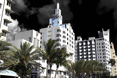 Photograph - South Beach Hotels Fusion by John Rizzuto