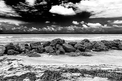Photograph - South Beach In Black And White by John Rizzuto