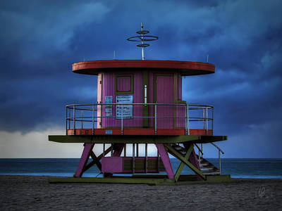 South Beach Lifeguard Station 001 Art Print