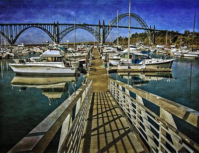 Yaquina Bay Bridge Photograph - South Beach Marina Ramp by Thom Zehrfeld