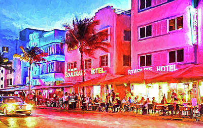 Photograph - South Beach Neon by Dennis Cox WorldViews