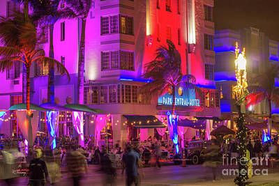 Photograph - South Beach Park Central Hotel by Rene Triay Photography