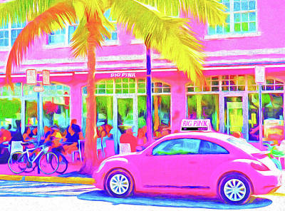 Photograph - South Beach Pink by Dennis Cox WorldViews