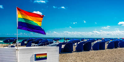 South Beach Pride Art Print