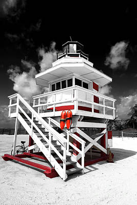 Photograph - South Beach Red Fusion by John Rizzuto