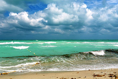 Photograph - South Beach Storm Clouds by John Rizzuto
