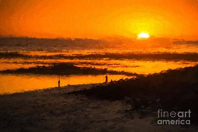 Photograph - South Beach Sunset    Rvr by Ray Warren