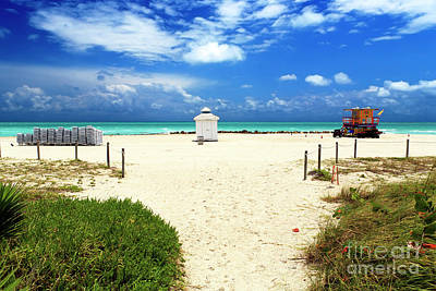 Photograph - South Beach Turquoise Water by John Rizzuto