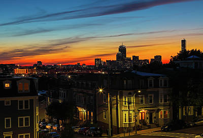 Photograph - South Boston Sunset View Of The Hub by Juergen Roth