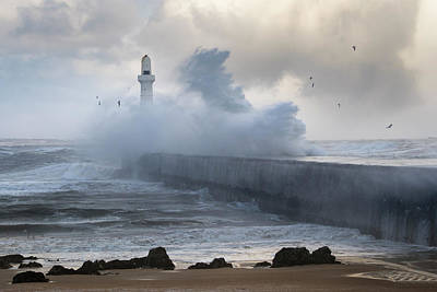 Photograph - South Breakwater In The Storm by Veli Bariskan