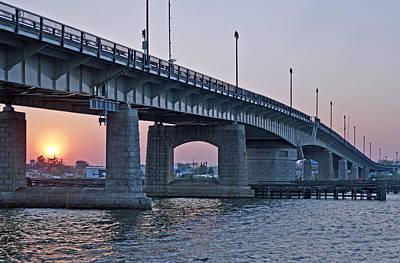 South Capitol Street Bridge Over Anacostia River In Washington Dc Print by Brendan Reals