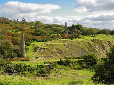Photograph - South Caradon Mine Ruins Bodmin Moor Cornwall by Richard Brookes