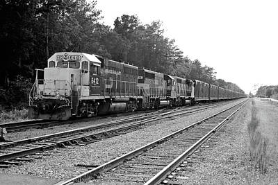 Photograph - South Carolina Central Railroad 2005 B W 1 by Joseph C Hinson Photography