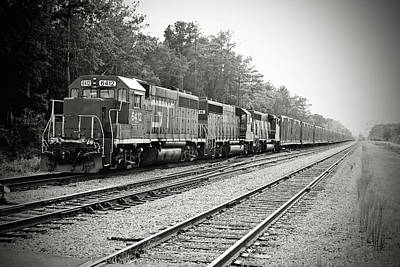 Photograph - South Carolina Central Railroad 2005 B W 2 by Joseph C Hinson Photography
