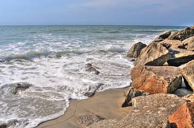 Photograph - Kure Beach North Carolina Coastline by Don Wolf