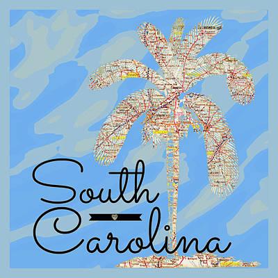 The Trees Mixed Media - South Carolina Palm V1 by Brandi Fitzgerald