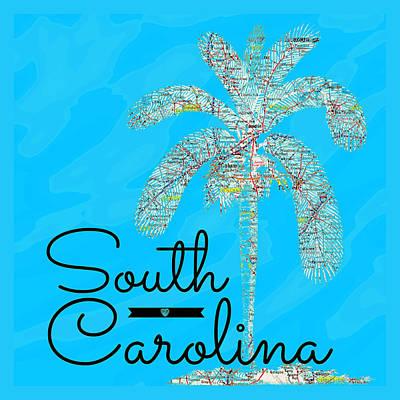 The Trees Mixed Media - South Carolina Palm V2 by Brandi Fitzgerald