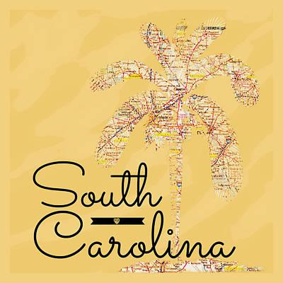 The Trees Mixed Media - South Carolina Palm V3 by Brandi Fitzgerald