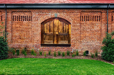 Photograph - South Carolina Railroad Freight Depot Door - 1 by Frank J Benz