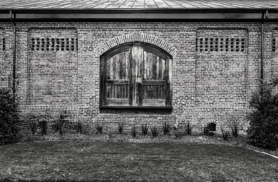 Photograph - South Carolina Railroad Freight Depot Door - 2 by Frank J Benz
