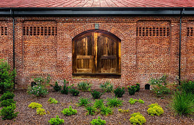 Photograph - South Carolina Railroad Freight Depot Door - 3 by Frank J Benz