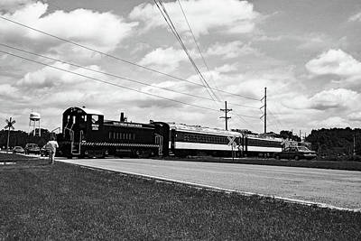 Photograph - South Carolina Railroad Museum Sw7 #2028 B W 1 by Joseph C Hinson Photography