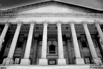 Photograph - South Carolina State House Columbia Sc Black And White by Lisa Wooten