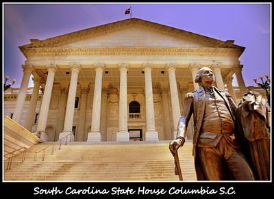 Photograph - South Carolina State House Columbia Sc by Lisa Wooten