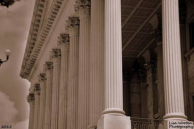 Photograph - South Carolina State House Columns  by Lisa Wooten