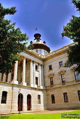 Photograph - South Carolina State House Dome by Lisa Wooten