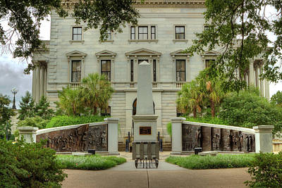 Photograph - South Carolina State House Side View by Mike Eingle
