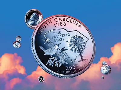 South Carolina State Quarter - Sky Coin 08 Art Print