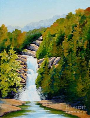 Painting - South Carolina Waterfall by Jerry Walker