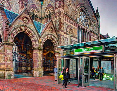 Photograph - South Church And The Subway 001 by Jeff Stallard
