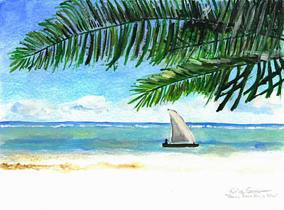 Painting - South Coast Kenya Dhow by Katie Sasser