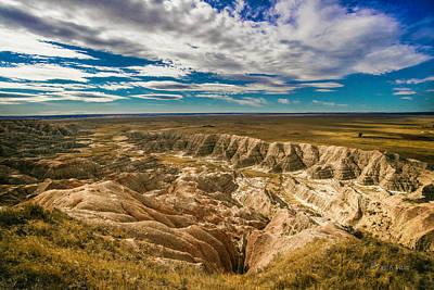 Photograph - South Dakota Bad Lands.... by Paul Vitko