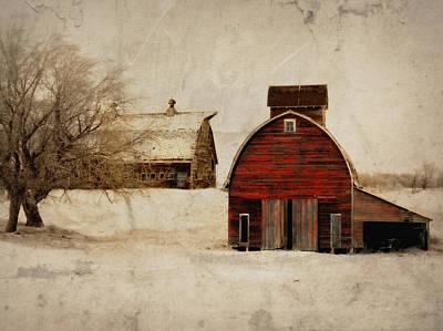 Agriculture Digital Art - South Dakota Corn Crib by Julie Hamilton