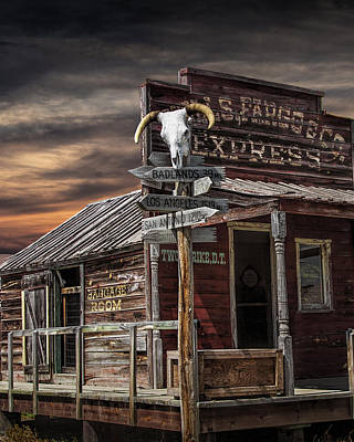 Photograph - South Dakota Wells Fargo Express Office Station by Randall Nyhof