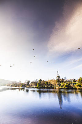 Pastel Sky Photograph - South-east Tasmania River Landscape by Jorgo Photography - Wall Art Gallery