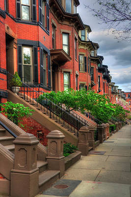 Photograph - South End Row Houses - Boston by Joann Vitali