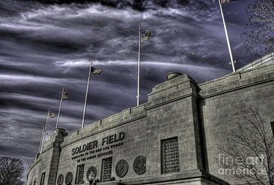 Soldier Field Photograph - South End Soldier Field by David Bearden
