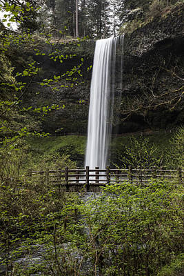 Photograph - South Falls And Bridge  by John McGraw