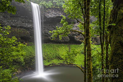 Photograph - South Falls In Silver Falls State Park by Bryan Mullennix