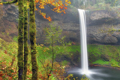 South Falls On A Drizzly Day Art Print by David Gn